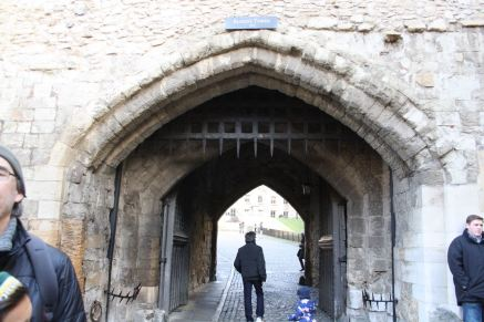 The gate beneath the Bloody Tower