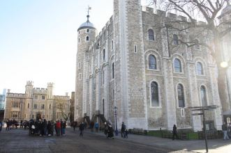 The north side of the Tower - that round turret is where the stairs are that go from basement to roof