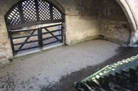 A gate leading to the Thames